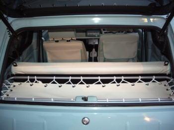 トノカバーとシートを合わせるとこんな感じです。