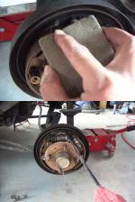 今週のツーカット - ドラムブレーキ清掃&調整